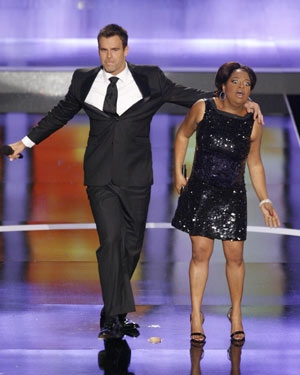 Cameron Mathison and Sherri Shepherd