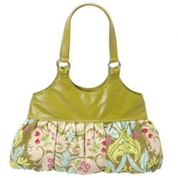 Green Floral Purse