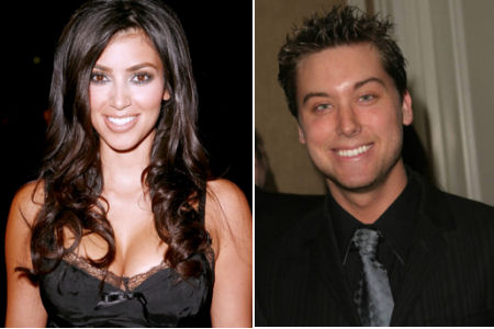 Kim Kardashian and Lance Bass