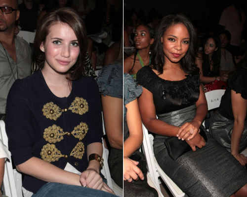 Emma Roberts and Sanaa Lathan