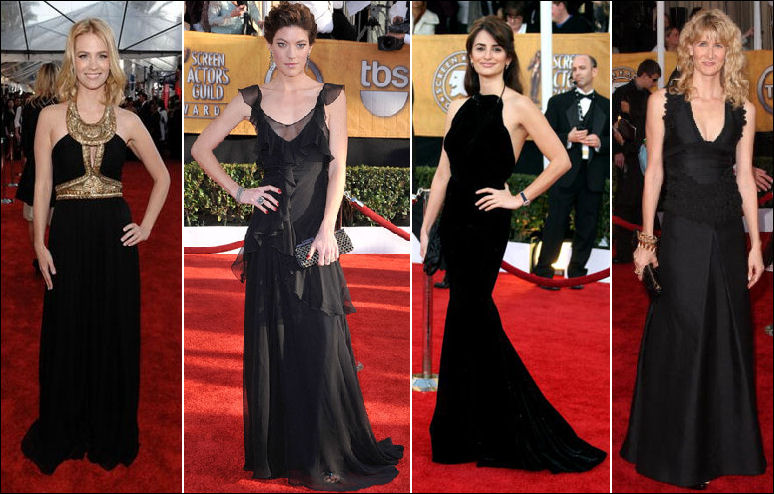 Penelope cruz red carpet dress - Black and white red carpet dresses ...