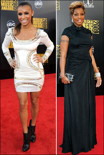 2009-american-music-awards-red-carpet-fashion-melody-thornton-mary-j-blige