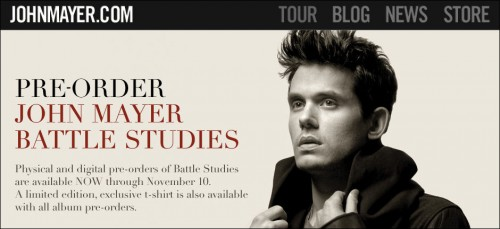 John Mayer Tour Songlist