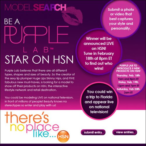 purple-lab-hsn-model-search-contest