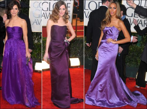 2010-golden-globe-red-carpet-fashion-purple. PURPLE STRAPLESS DRESSES