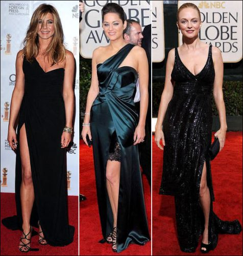 2010-golden-globe-red-carpet-fashion-slits. SLIT Jennifer Aniston wears a