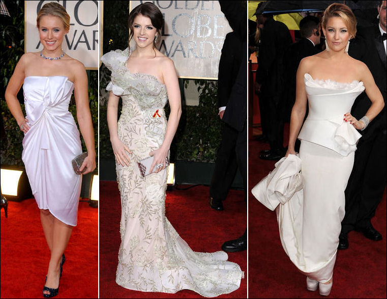 2010 Golden Globes red carpet fashion