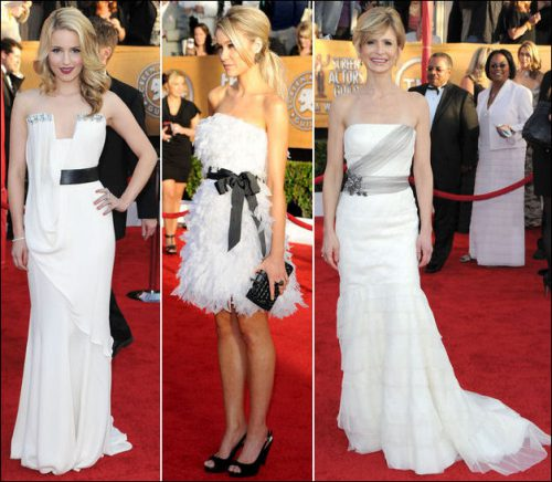 2010-sag-awards-red-carpet-dresses-white. STRAPLESS WHITE DRESSES Dianna