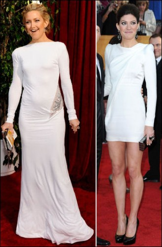 Shoulder Long Sleeve Dress on Long Sleeved White Dresses Kate Hudson In A Long Emilio