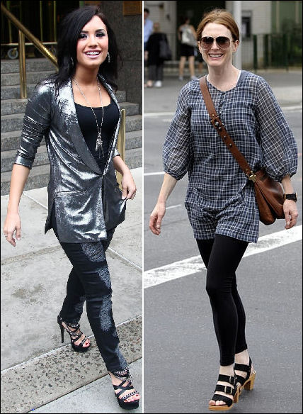 Celebrity style Demi Lovato Julianne Moore