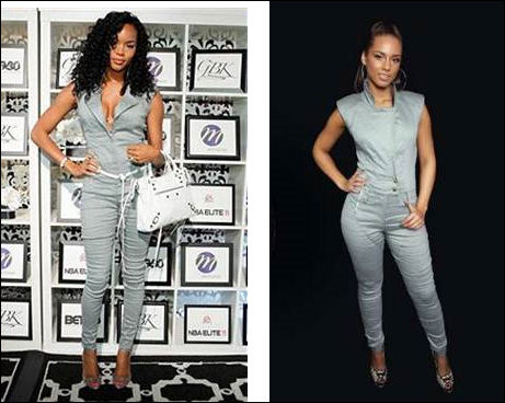 LeToya Luckett Alicia Keys in Nicole Miller