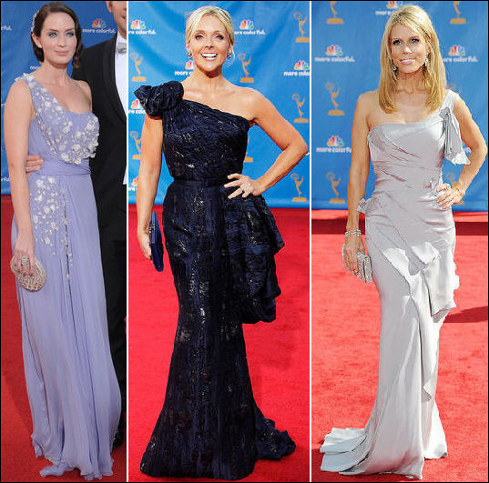 2010 Emmy red carpet dresses one shoulder