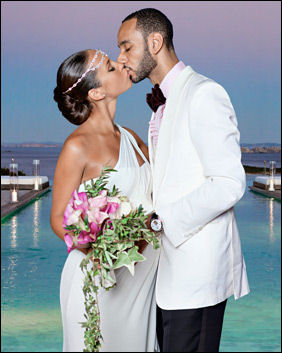 Alicia Keys wedding dress Vera Wang