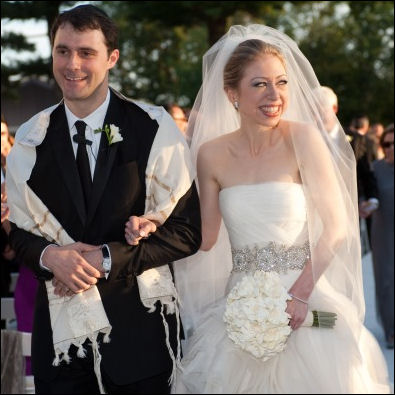 Chelsea Clinton Wears Vera Wang Wedding Dress