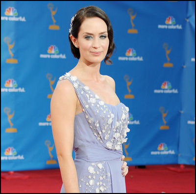 2010 Emmy red carpet hair Emily Blunt