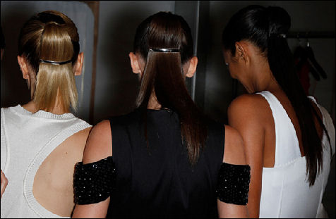 Spring 2011 new york fashion week Prabal Gurung hair 2