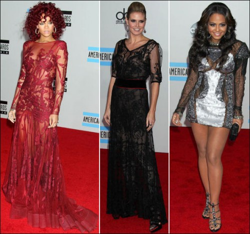 Red Carpet Black Lace Dresses