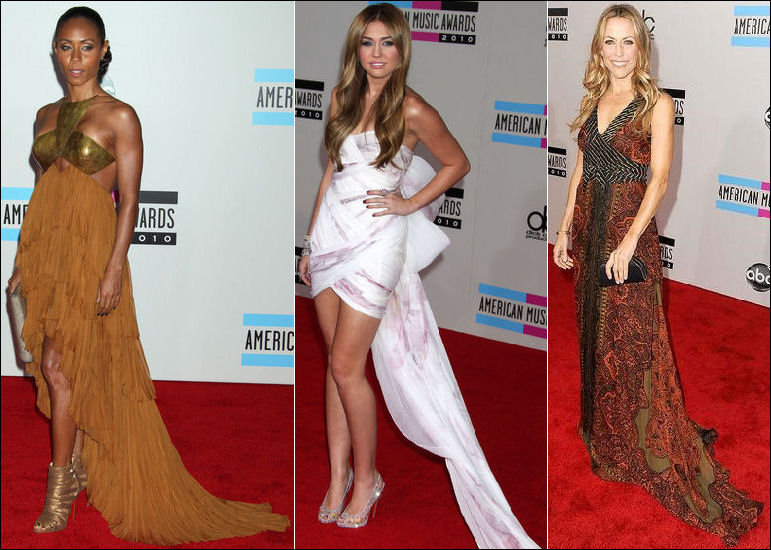 2010 ama red carpet fashion train