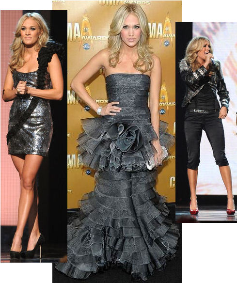 2010 country music awards fashion carrie underwood silver