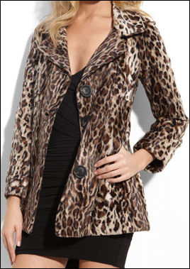 Fur fashion fur animal print jacket
