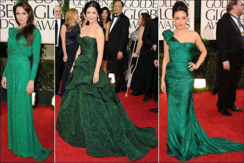 2011 golden globes red carpet dresses emerald