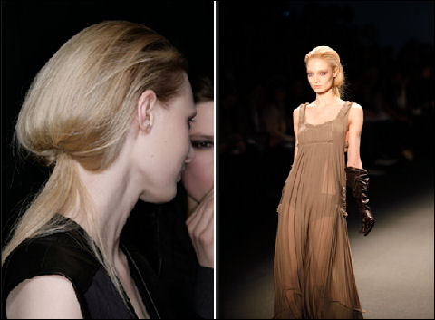 2011 Fall fashion week Vera Wang hairstyle