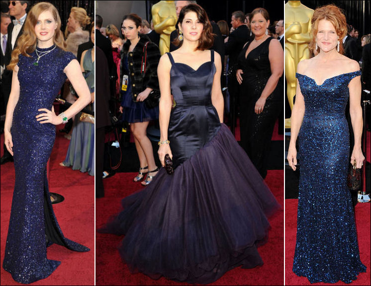 2011 oscar red carpet dresses blues