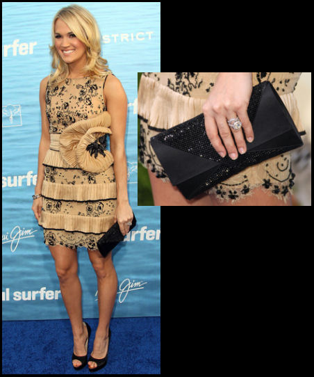 Carrie Underwood style red carpet fashion Soul Surfer premiere