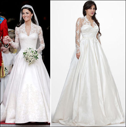 Kate Middleton wedding dress and replica