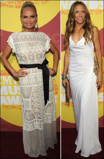 2011 CMT Music Awards red carpet fashion white