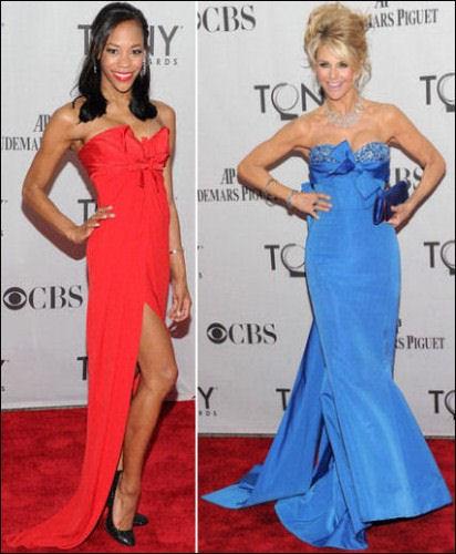 2011 Tony Awards Red Carpet Dresses Bows