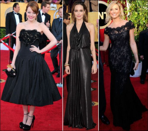 2012 sag awards red carpet dresses gowns fashions - Black and white red carpet dresses ...
