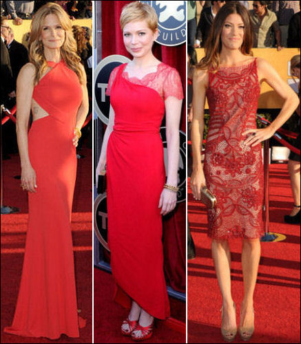 2012 SAG Awards red carpet dresses red