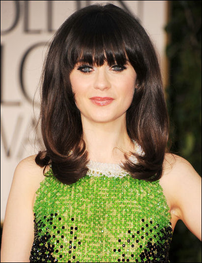 2012 golden globes makeup zooey deschanel