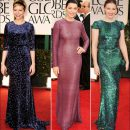2012 Golden Globe Awards red carpet dresses