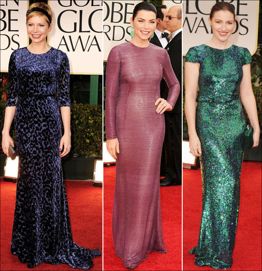 2012 golden globes red carpet dresses sleeves