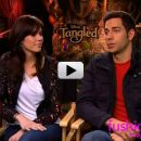 "Mandy Moore and Zachary Levi get all ""Tangled"" up"