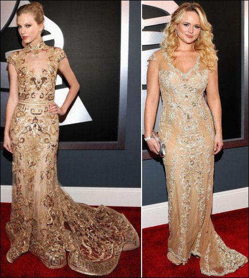 2012 Grammys red carpet dresses taylor swift miranda lambert