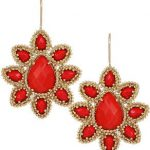 Red fashions earrings