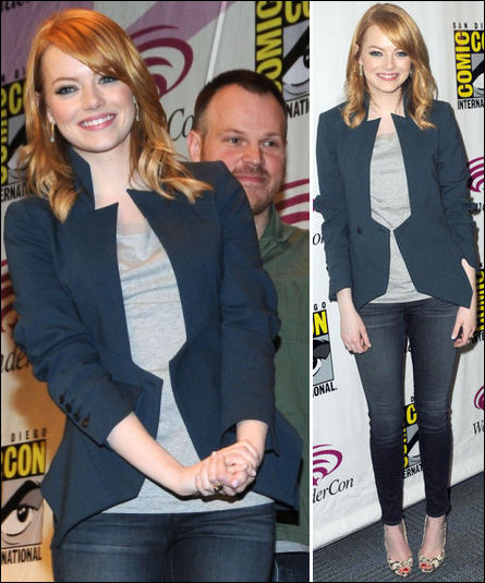 Emma Stone fashion style Wondercon 2012