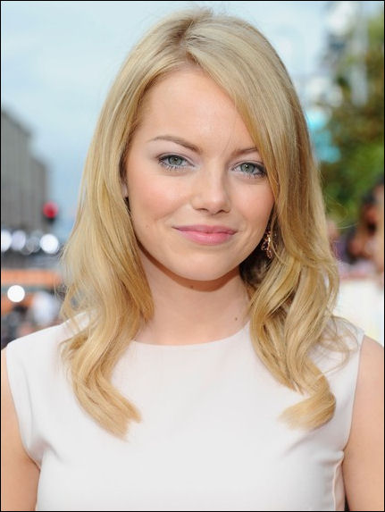 Emma Stone hair style 2012 Kids Choice Awards