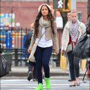 Rocsi Diaz goes bright in Reebok Freestyle sneakers