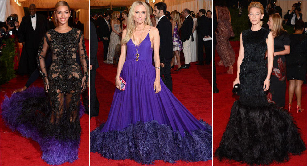 2012 MET GALA red carpet dresses fashions FEATHERS