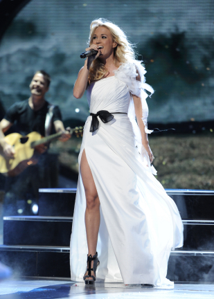 Carrie Underwood dress Theia American Idol