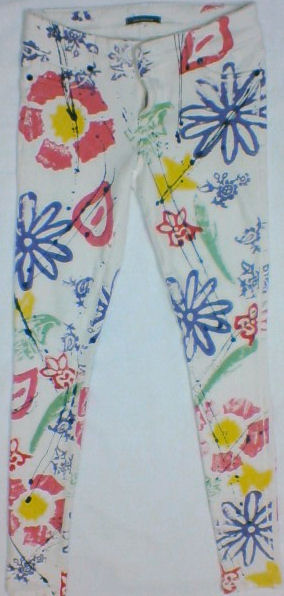 Denimocracy Anarchy flower power leggings