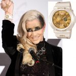Kesha modeling Casio Baby G watch 2012
