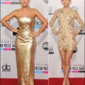 2012 AMA red carpet dresses fashion GOLD