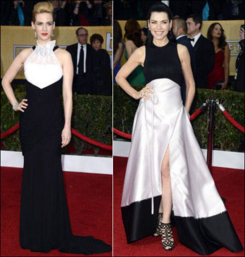 2013 sag awards red carpet dresses - Black and white red carpet dresses ...