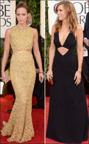 2013 golden globe red carpet dresses CUT OUTS
