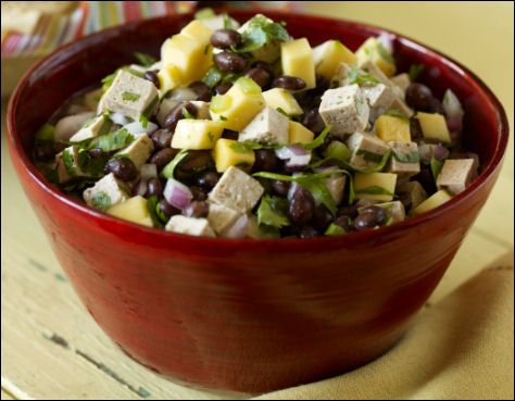 Super Bowl 2013 Tofu Mango Black Bean Salsa recipe